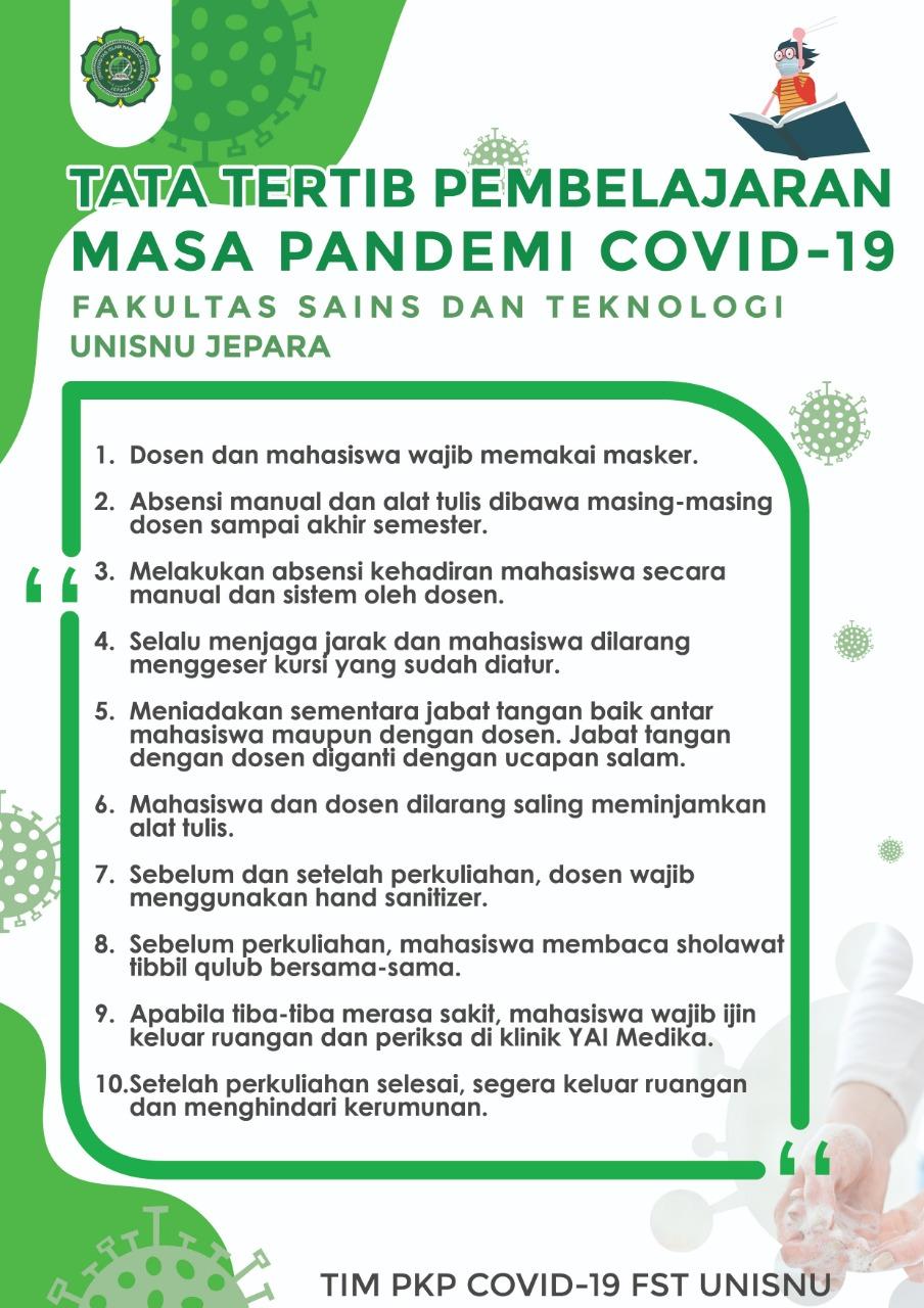 Tata Tertib Pembeljaran Masa Pandemi Covid 19